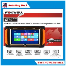 Wholesale Hyundai Tablet Inch - Foxwell GT80 PLUS Next Generation Diagnostic Platform With 10 Inch LED touch Screen + Windows 8.1 Tablet Computer Free Shipping