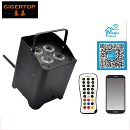 Wholesale Active Infrared - TIPTOP TP-G3045-6IN1 Battery Power Wireless Infrared Remote Control 6IN1 Aluminum Led Par Light Freedom Mobile Phone Magic Home