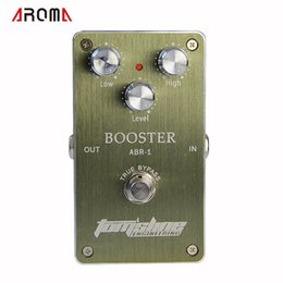 e-gitarre verzögerung effekte pedal Rabatt NEUES GUITAR Pedal / Aroma Premium Effektpedal ABR-1 Booster AC / DC-Adapterbuchse