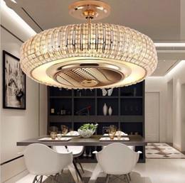 Wholesale ion air purifiers - European Crystal negative ion fan lamp, deodorization, sterilization, negative oxygen ion air purifier, ceiling fan, ceiling lamp LLFA