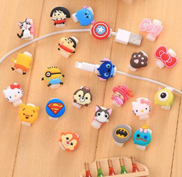 Wholesale Wholesale Iphone 4s Charging Cord - Cartoon Cable Protector Data Line Cord Protector Protective Sleeves Cable Winder Cover For iPhone 7 Plus 6 5 4 4S USB Charging Cable 50pcs