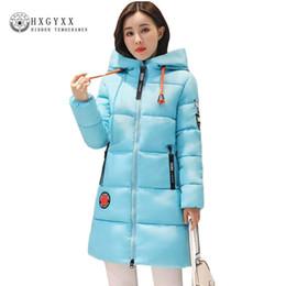 Wholesale Cheap Hooded Parka Coats - Korea Woman Winter Jacket 2017 New Thick Warm Long Slim Hooded Cheap Coats Solid Color Zipper Cotton Parka Plus Size Outwear O3