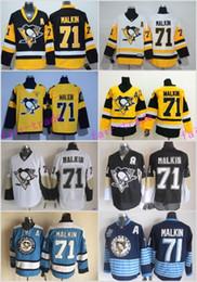 Wholesale Dark Green Jersey - 2017 Stadium Series Stitched Pittsburgh Penguins #71 Evgeni Malkin Dark Blue Green Hockey Jerseys Ice Winter 48-56 Drop Shipping