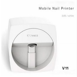 Wholesale Teaching Machine - O2NAILS Automatic nail painting machine V11 Multifunction Mobile Wifi Easy All-Intelligent 3D Nail Printers Video To Teach
