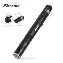 Wholesale Led Work Lights Waterproof - AloneFire MN23 Portable Mini Penlight CREE Q5 LED Flashlight Torch Pocket Light Waterproof Mini Torch Lamp use 2*AAA Battery