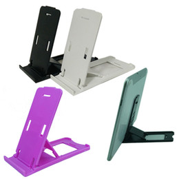Wholesale Portable Folding Tables - Universal Portable Foldable Table Plastic Stand Holder Folding Adjustable Phone Bracket Holder for ipad iphone 7 plus Sansung S6 Edge HTC