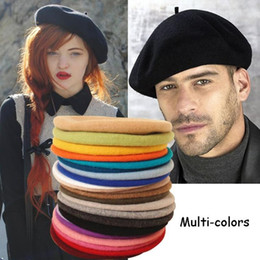 Wholesale French Hats Beret - Wholesale-Fashion Beret Classy French Classic Style Hat Warm Wool Elegant Felted Soft New