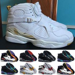 Wholesale Men Silk Goods - New Retro 8 VIII Basketball Shoes Men Good Quality black white retr8 8s Playoffs Breathable Training Athletics Sports Sneakers