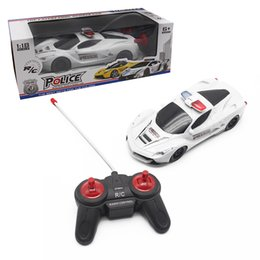 Wholesale Racing Car Toys - Remote Control RC Cars Boy toys 1:18 4CH Police RC Car Model Baby Toys 4Cchannels Remote Control Car Micro Racing Cars Kids