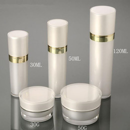 Wholesale Pump Containers Sprayers - 30ml 50ml 120ml Acrylic Empty Sprayer Lotion Pump Perfume Bottle In Refillable Lotion Fragrance Containers Bottles F20171914