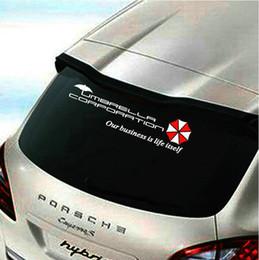 Wholesale Plastic Windscreens - 40cm Car styling Resident Evil umbrella car sticker auto rear windscreen decal emblem