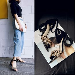 Wholesale Shape Up Sandals Women - 2017 Korean summer new sandals female wild shaped with special leather high-heeled shoes 34-39