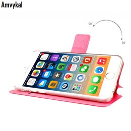 Wholesale Book Holder Phone Case - For iPhone 7 6 6S Plus Silkworm Pattern Leather Case Flip Book Phone Bag Stand Cover with Card Holder Coque 5.5 inch