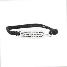 Wholesale Hope Black - 2017 New Silver Alloy Bracelet Multilayer Leather Rope Bracelet for Women Men Friendship Hope Bracelet Bangles Jewelry Gift