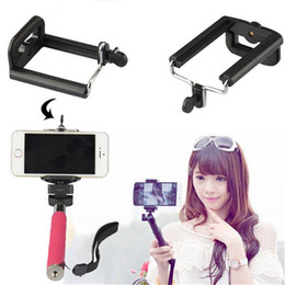 Wholesale Cell Phones Accessories For Sale - Wholesale-Hot sale Universal Mobile Phone Accessories Selfie Stick Phone Clip Adapter for Smartphone Camera Cell Phone Tripod Mount Holder