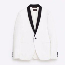 Wholesale Cotton Wide Shawls - Shawl collar men's suit jacket handsome a grain of buckle leisure suit jacket the groom's best man wedding guests dresses jacket