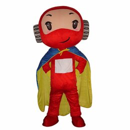 Wholesale Superman Mascot Costume - 2016 NEW Hot Sale Car Mascot Carnival Cartoon little Superman Mascot Costume Fancy Dress Animal Mascot Costume Free Shipping