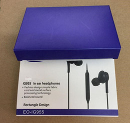 Wholesale Earphone Mic Volume Retail - AAA Quality Earphones Earbuds For Samsung S7 S6 S8 edge S8+ Galaxy Headphone In Ear Headset With Mic Volume Control EO-IG955 With Retail