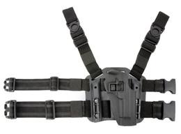 Wholesale Puttee Pistol Holster - 1911 tactical puttee thigh belt drop Leg holster pistol pouch Black