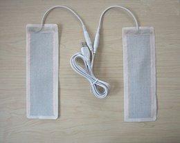 Wholesale Cloth Pill - Wholesale- one pair 5 v USB heating pills heating cloth heating pills 6 * 20 cm