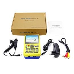 Wholesale Lnb Digital - JUSHENG V8 Finder Digital Satellite TV Signal Finder Meter Freesat HD DVB-S2 FTA LNB Signal Meter Satellite TV Receiver Tool with 3.5' LCD