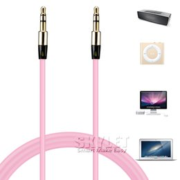 Wholesale aux extension - 3.5mm AUX Audio Cables Male To Male Stereo Car Extension Audio Cable For MP3 iPhone Bluetooth Speaker No Package