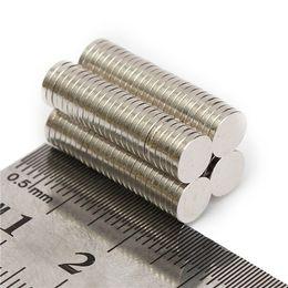 Wholesale Neodymium Fridge Magnets - 100pcs N52 6x1mm Disc Neodymium Magnet Strong Rare Earth Small Fridge Magnets