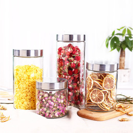 Wholesale Food Packaging Jars - Metal cover glass Sealed jar travel Portable tea box Accessories glass Canister tea caddy Food packaging jars Storage tank