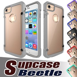 Wholesale Iphone 5s Leather Bumper - Supcase Unicorn Beetle Hybrid TPU Bumper PC Clear Matte Cover Case For iPhone 7 Plus 6 6S 5S 5 Samsung Galaxy S7 edge S6 Free Shipping