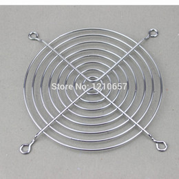 Wholesale Computer Safety - Wholesale- 2Pieces LOT Fan Protection Net Grille 12CM 120mm Fan Iron Mesh Computer Case Fan Safety Net