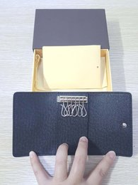 Wholesale Elegant European Style - 6 KEY HOLDER High-end quality men keys wallet An elegant accessory for pocket or briefcase new arrival Classical famous designer women purse