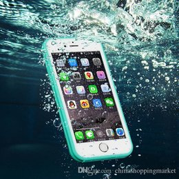 Wholesale Iphone Waterproof Dirt - For iPhone X 8 7 6 6S Plus Waterproof Case TPU Full Boday Cover Shock-proof Dust-proof Underwater Diving Cases For Samsung S7 S6 edge Plus