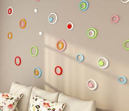 posto de estacionamento Desconto 2017 Hot 7 cores Novo 1 Conjunto de Decoração do Quarto Interno Círculo Removível 3D Art Wall Sticker Rodada Casa DIY, 1 Conjunto de 5