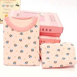 Wholesale Girls Striped Pyjamas - Pyjamas girls cotton deer striped tops pants pajamas Girl children Cartoon Sleepwear Clothing Set Spring Pajamas