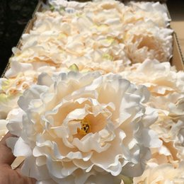 Wholesale Simulation Artificial Flower Camellia Rose - high quality 15cm Silk Peony Flower Heads Wedding Party Decoration Artificial Simulation Silk Peony Camellia Rose Flower