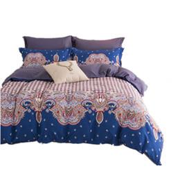 Wholesale Linen King Size Bedspread - Wholesale- CARA CARLE Bed Linen 4Pcs Cotton Bedding Sets King Size Bedspread Duvet Cover Bed sheet housse de couette Comforter Bedding Set