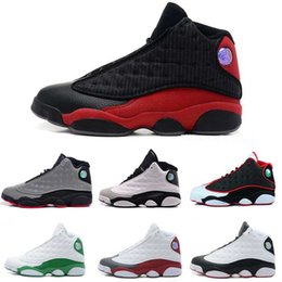 Wholesale Cheap Red Satin Shoes - 2017 Cheap New Retro 13 Mens Basketball Shoes Outdoor Authentic Sneakers running shoes for men White Retros 13s XIII Sports Replicas US 8-13