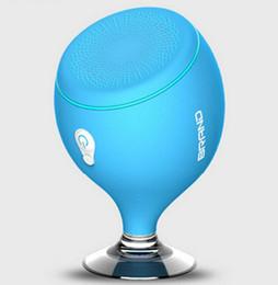 Wholesale Mini Speaker For Cellphone Stereo - New Arrival Cute Waterproof IPX6 Bluetooth Speaker Bathroom Stereo Mini Portable Speaker With Shining Light Cellphone Holder