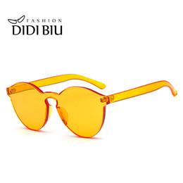 Wholesale Transparent Glasses Rimless - DIDI Sweet Citrus Women Sunglasses Men Luxury Brand candy color Small Round Vintage Sun Glasses Transparent Oculos Feminino W739