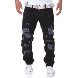 Lazos juveniles online-Al por mayor-Mens Joggers 2016 Hot Spring Jogger Pants Hombres Solid Fashion Ripped Tobillo-atado Pantalones Slim Fit Pantalones de carga de jóvenes (Tamaño asiático)