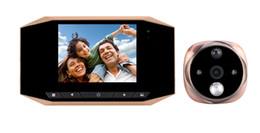 "Wholesale Digital Video Door Viewer Peephole - 3.5"" LCD Digital door peephole viewer IR night Vision Camera video picture record doorbell motion detection"