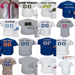 Wholesale Fashions New York - 2017 Mens Womesn Kids Toddler Custom New York Mother Father 2016 Memorial Training Cool Flex Baseball Jerseys Fashion stars Blue White