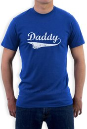 Wholesale green slogans - Daddy Slogan Best Father's Day Gift Distressed Vintage Style Men's T-Shirt Short Sleeve O-Neck Cotton T-shirt