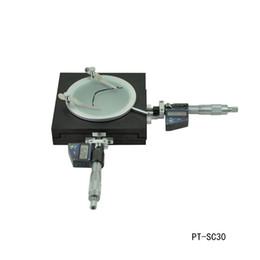 Affichage des étapes en Ligne-Plate-forme de mesure Wiht Affichage numérique Scène numérique Microscope Stage Précision 1UM Plage de déplacement: 30mm x 30mm PT-SC30