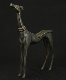 Wholesale Nice Old - BIG NICE CHINESE OLD BRONZE COLLECTABLE HANDWORK CARVED DOG STATUE FIGURE Free