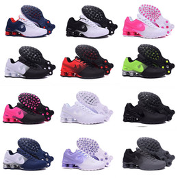 Wholesale Cheap Men Summer Tops - 2017 New Shox Deliver 809 Men women Running Shoes Cheap Fashion Sneakers white black red Shox Current Top Quality Sport Shoes Size 36-46