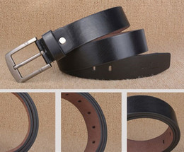 Wholesale Fancy Belts For Men - 2017 Belt Men Genuine Leather Luxury Strap Male Belts for Men Buckle Fancy Vintage Jeans Cintos Masculinos Ceinture Homme