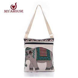 Wholesale Owl Crossbody Bags - Wholesale-Hot Sale Cartoon Elephant Print Messenger Bags Canvas Women Shoulder Bags For Female Casual Canvas Bags Owl Design Crossbody Bag