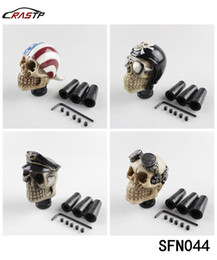 Wholesale Skull Knobs - RASTP- FreeShipping Racing Car Gear Shift Knob Devil Head Knob Modified Resin Knob Soldier Skull With Hat And Glasses LS-SFN044