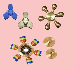 Wholesale Toy Hand Make - 6 Angle Hand Spinner Fidget Toy Design Fidget Hand Spinner for ADHD Focus Toy Made High Speed Relieves Anxiety and Boredom copper